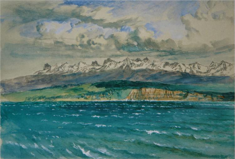 Afternoon in Spring, with South Wind, at Neuchatel, 1866 - John Ruskin