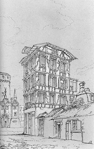 Ancient Maison Lucerne, 1835 - Джон Раскін