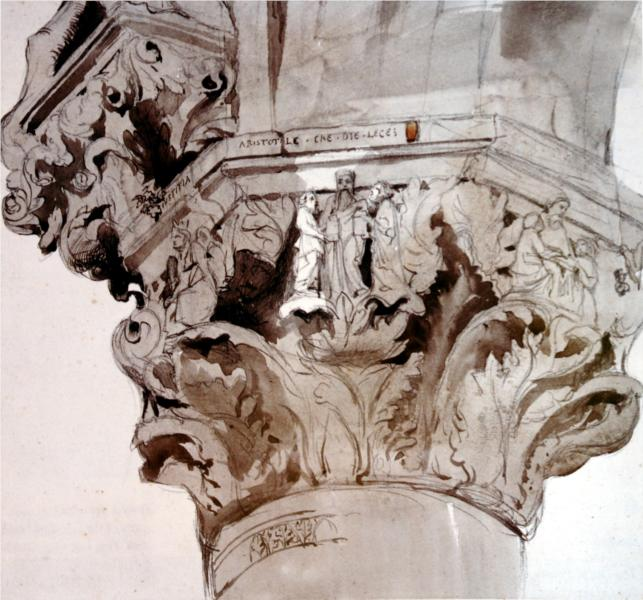 Capital 36 of the Ducal Palace, 1852 - John Ruskin