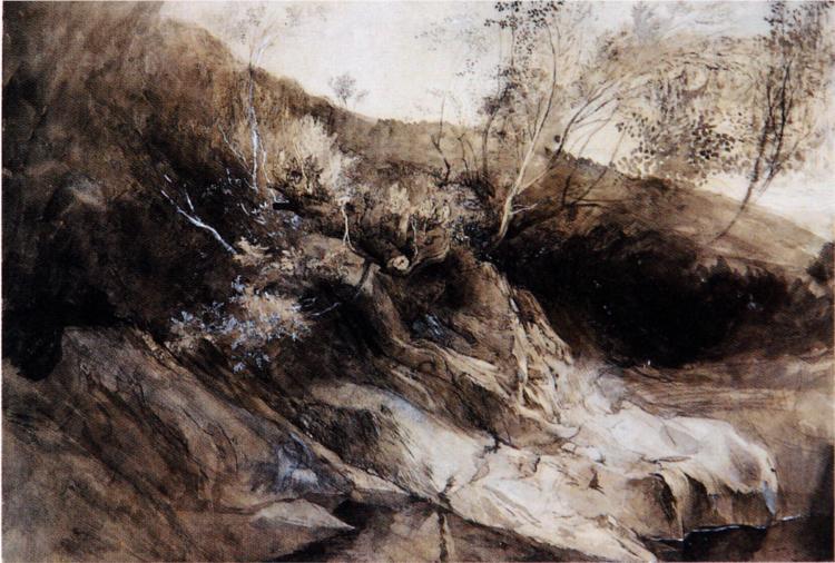 Rocky Bank of a River, 1857 - John Ruskin