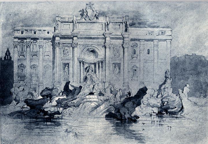 The Fountains of Trevi, 1841 - John Ruskin
