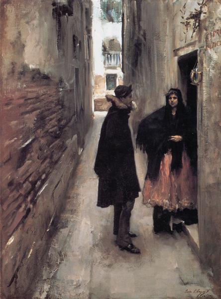 A Street in Venice, c.1880 - c.1882 - John Singer Sargent