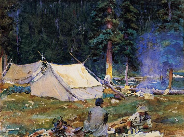Camping at Lake O-Hara, 1916 - Джон Сингер Сарджент