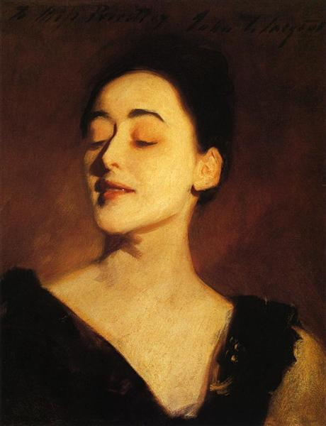 Flora Priestley (also known as Lamplight Study), c.1889 - John Singer Sargent