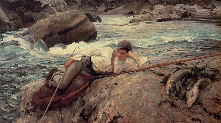 On His Holidays, Norway, 1901 - John Singer Sargent