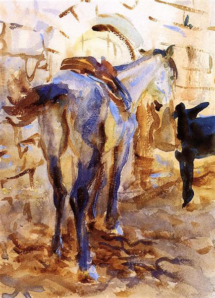 Saddle Horse, Palestine, 1905 - John Singer Sargent