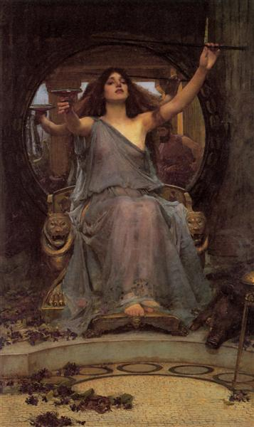 Circe Offering the Cup to Ulysses, 1891 - John William Waterhouse