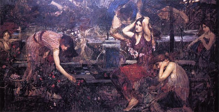 Sketch for Flora and the Zephyrs - John William Waterhouse