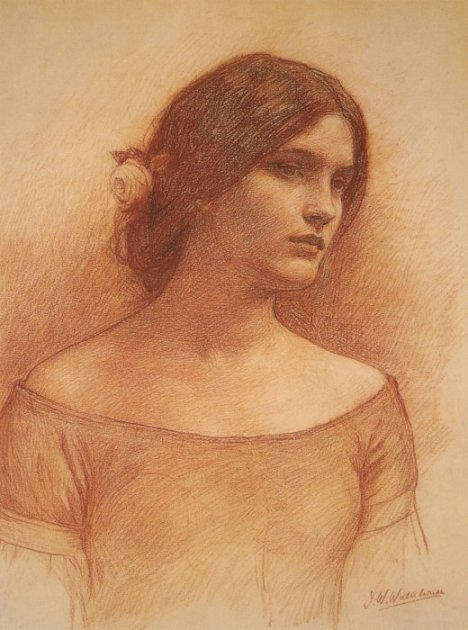 Waterhouse Study-for-the-lady-clare