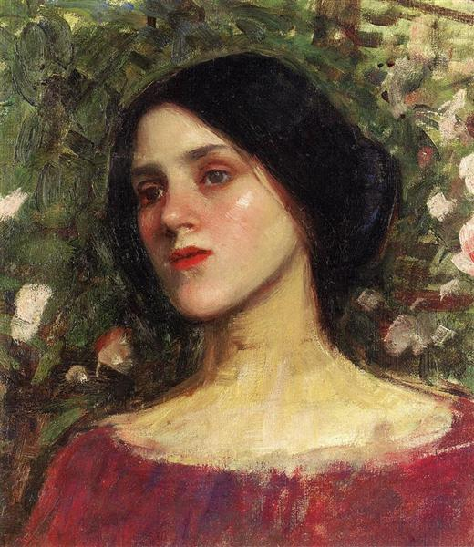 The Rose Bower - John William Waterhouse