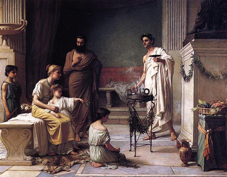 The Visit of a Sick Child to the Temple of Aesculapius, 1877 - John William Waterhouse
