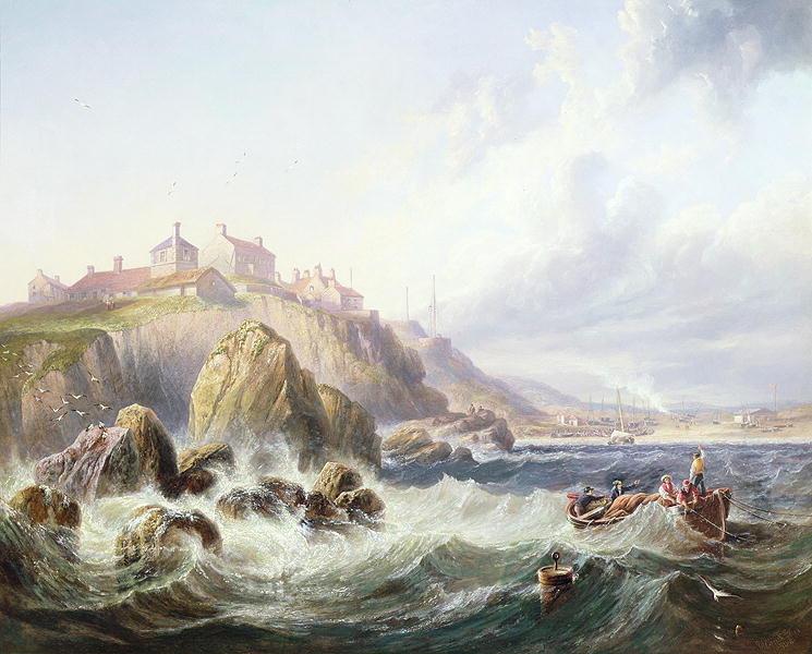 Fishing boats off Scotland by John Wilson Carmichael