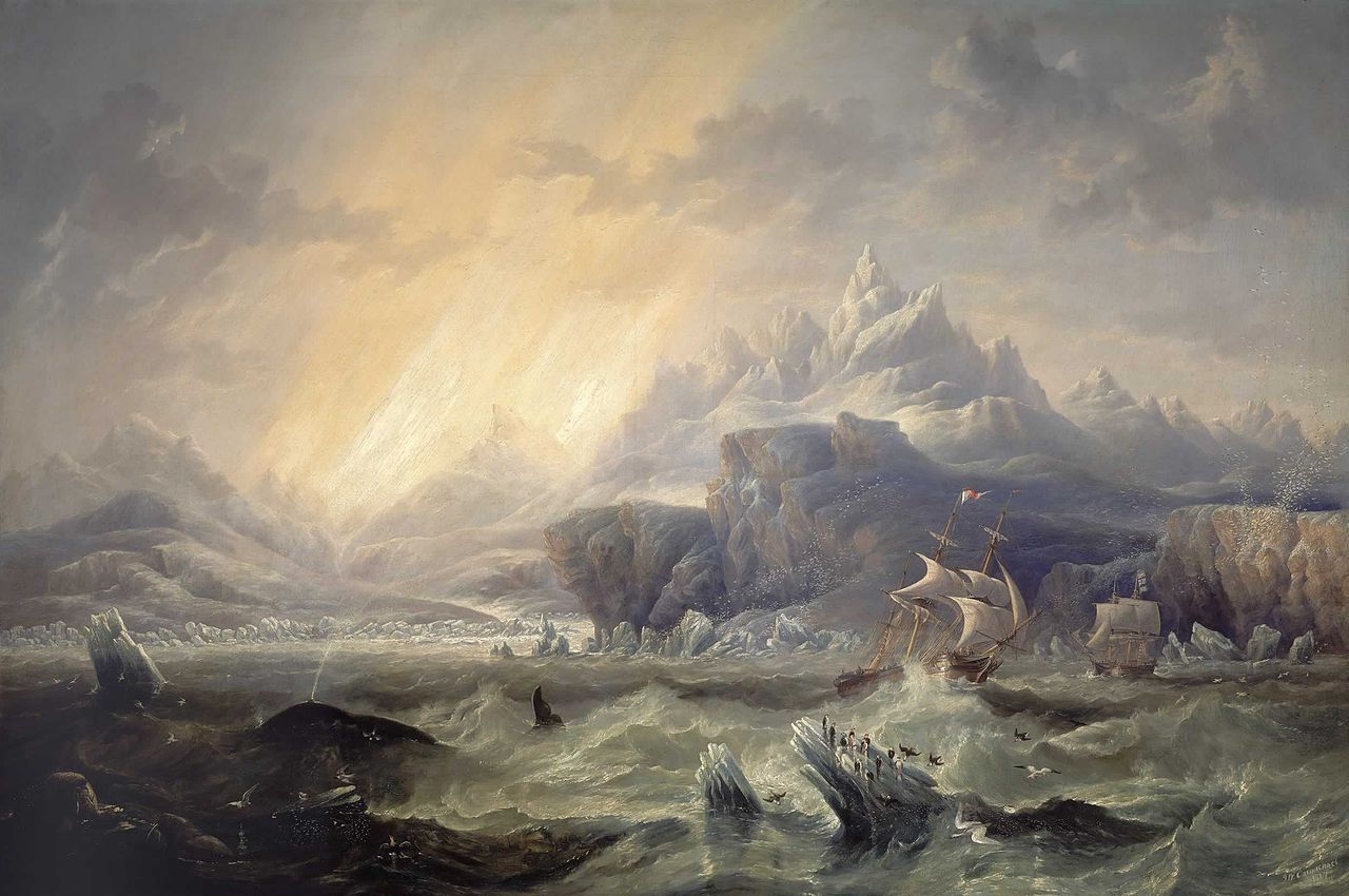 HMS Erebus and Terror in the Antarctic, 1847