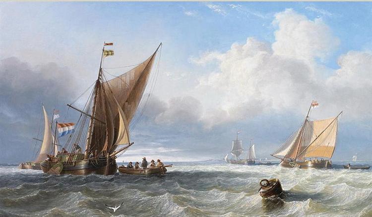 Off the Dutch Coast, 1858 - John Wilson Carmichael