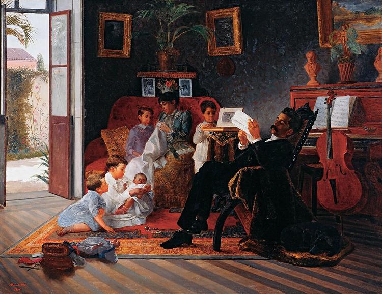 Scene of Adolfo Pinto's Family, 1891 - José Ferraz de Almeida Júnior