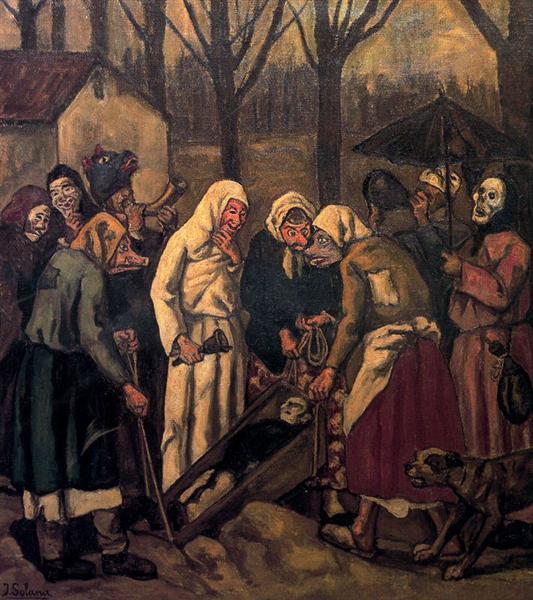 The Burial of the Sardine, 1943 - Jose Gutierrez Solana