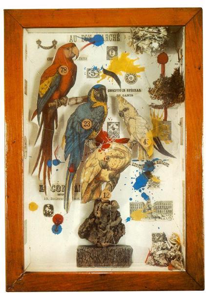 Habitat Group for a Shooting Gallery, 1943 - Joseph Cornell