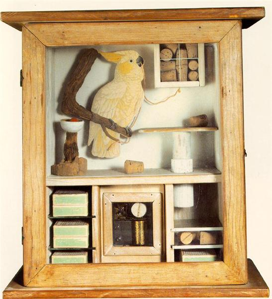 Untitled (Cockatoo and Corks), 1948 - Joseph Cornell