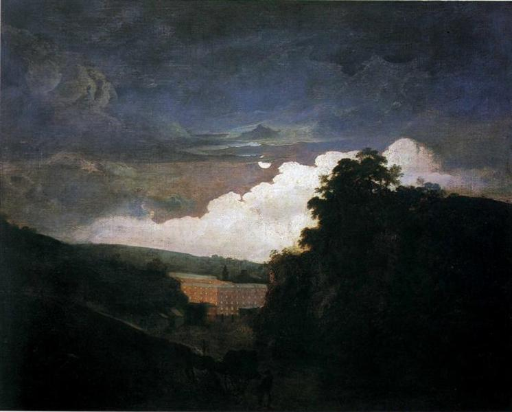 Arkwright's Cotton Mills by Night, c.1782 - Joseph Wright