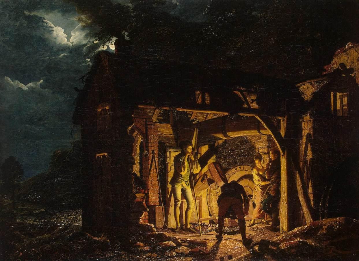 The Blacksmith S Shop 18th Century Joseph Wright