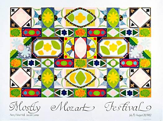 Mostly Mozart Festival Poster, 1982 - Joyce Kozloff