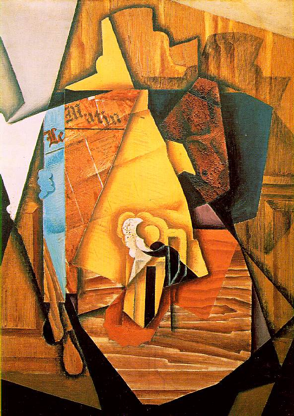 A man in a cafe, 1914 - Juan Gris - WikiArt.org