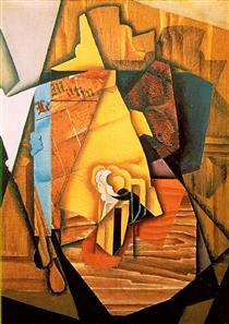 A man in a cafe - Juan Gris