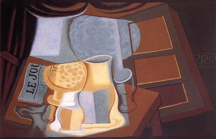 The Table in Front of the Window, 1921 - Juan Gris