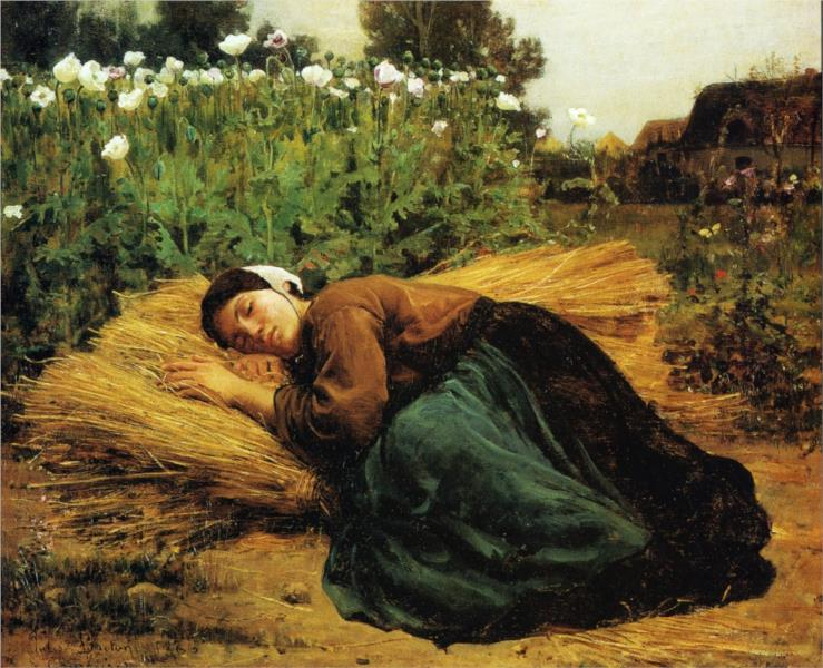 A Rest in the Fields, 1866 - Jules Breton