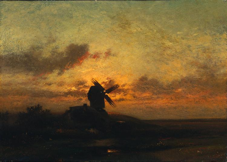 The Windmill - Jules Dupre