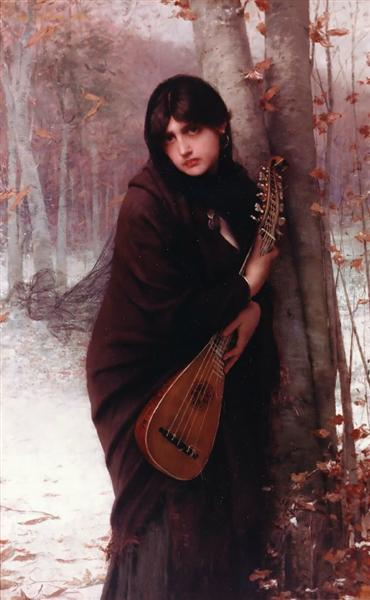 Girl with a Mandolin, 1870 - Jules Joseph Lefebvre