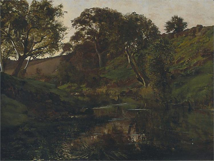 Evening, Merri Creek - Julian Ashton