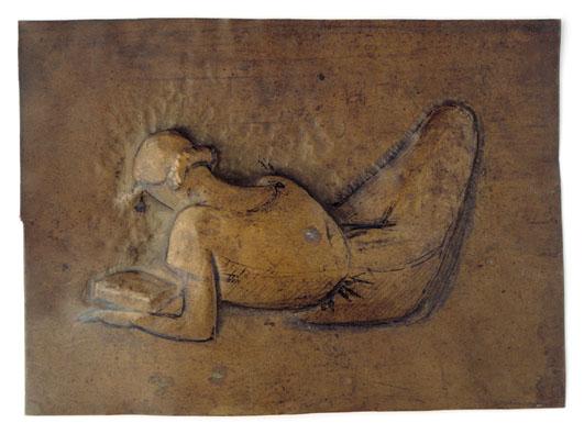 Femme étendue lisant, 1929 - Julio Gonzalez