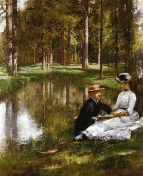 Reading, 1884 - Julius Stewart