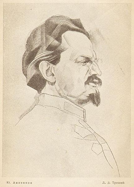 Portrait of Trotsky, 1926 - Jury Annenkov