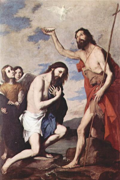 Baptism of Jesus, 1643 - Jusepe de Ribera