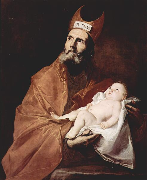 Saint Simeon with the Christ child, 1647 - Jusepe de Ribera