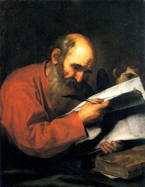 St. Matthew with the angel, 1613 - Jusepe de Ribera
