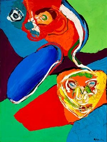 Flying People, 1971 - Karel Appel
