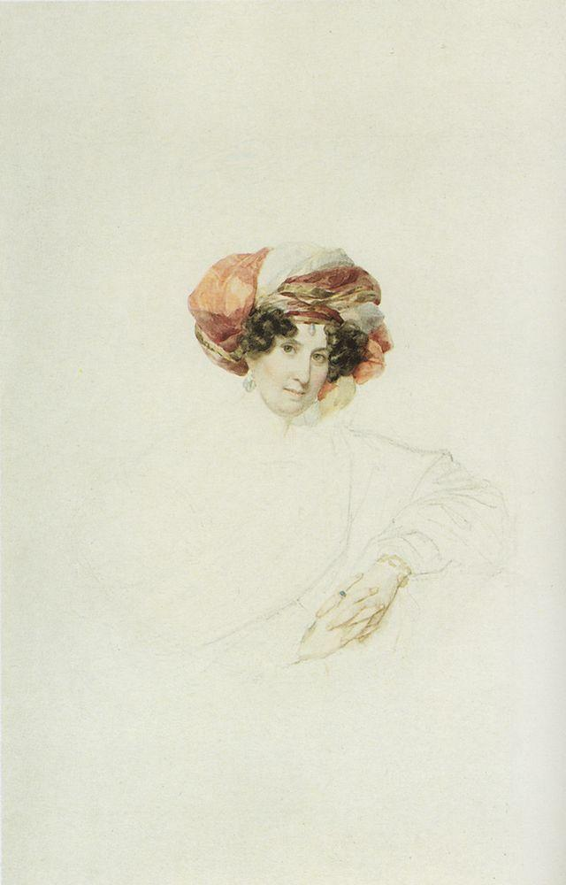 Portrait of an Unknown Woman in a Turban, 1830