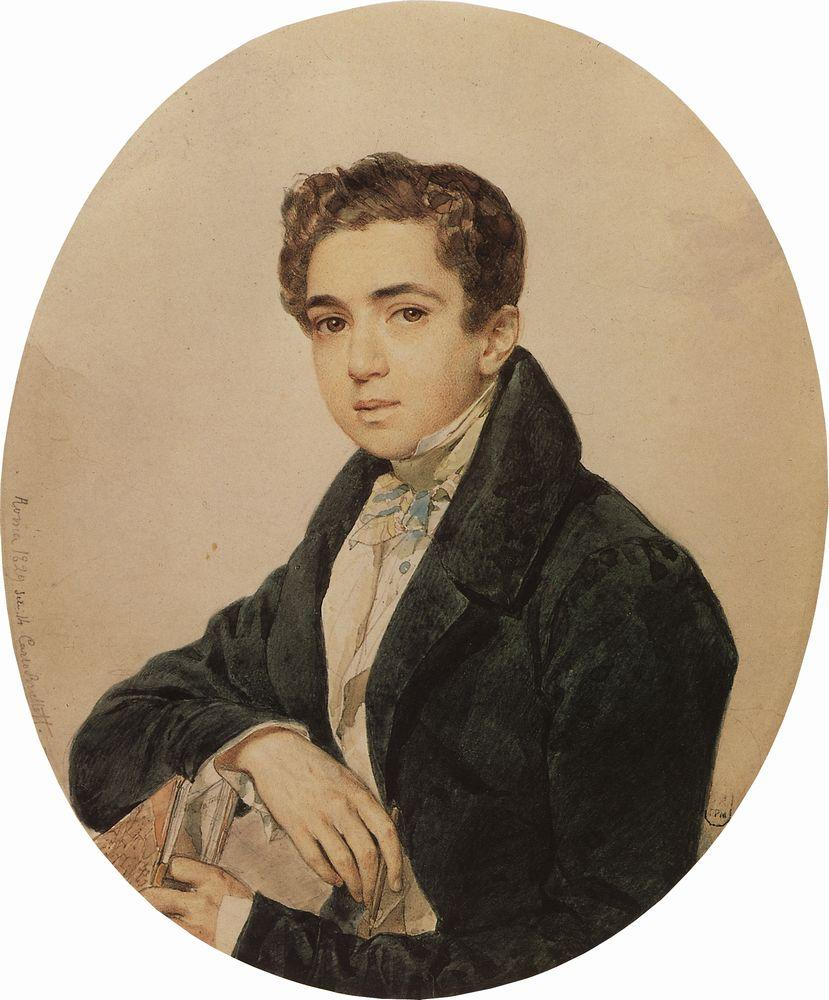Portrait of the Artist Prince G. G. Gagarin, 1829