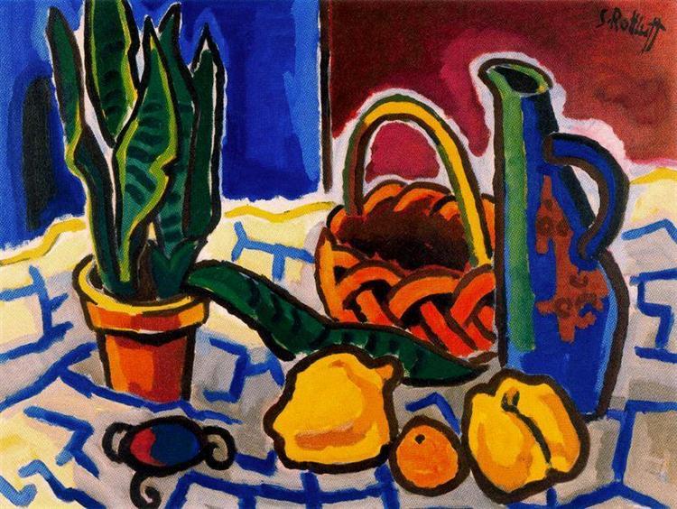 Still Life (Sanseveria and Jar), 1956 - Karl Schmidt-Rottluff