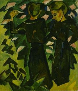 Two Girls in a Garden, 1914 - Karl Schmidt-Rottluff