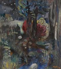 Evening Woods - Karl Schrag