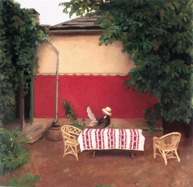 Red Wall, 1910 - Karoly Ferenczy