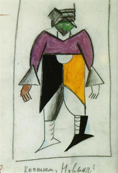 New Man, 1913 - Kazimir Malevich