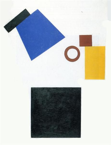 Suprematism. Two Dimensional Self Portrait, 1915 - Kazimir Malevich