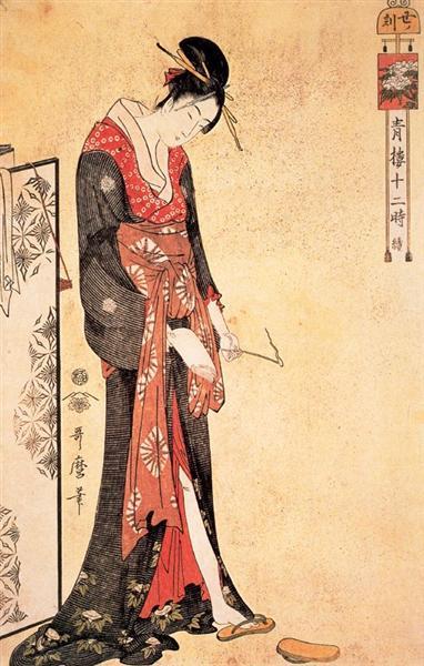 The Hour of the Snake - Kitagawa Utamaro