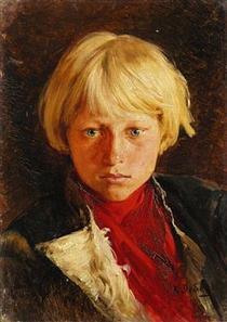 Portrait of boy - Klavdi Lébedev