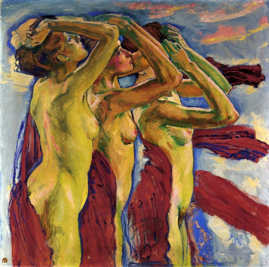 Three Graces in paintings, Koloman Moser, The Three Graces